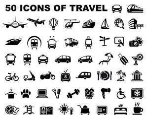 Icons of travel and trips
