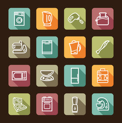 Kitchen home appliances. Vector illustration