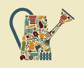 Garden symbol. Vector illustration