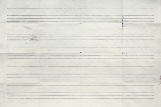 Sheet music without notes, background texture