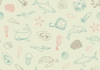 Seamless marine background