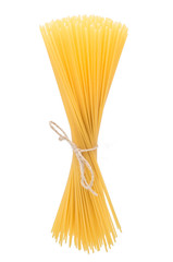 Italian pasta bunch isolated on white background