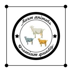 Vector farm animals Premium quality silhouettes isolated goat