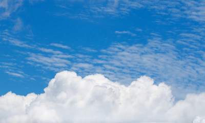 Canvas Prints blue sky background with clouds