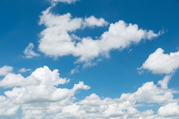 Wonderful blue sky and white clouds panorama