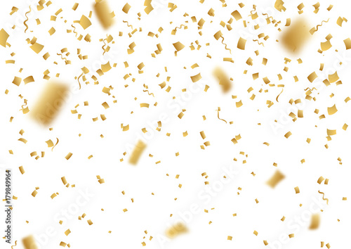 Christmas Tinsel Transparent Background.Falling Vector Confetti On Transparent Background Stock