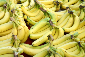 Fresh banana as food background