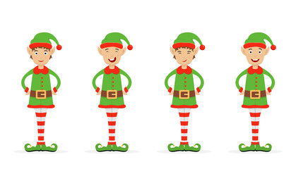Set of Christmas elves