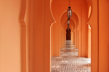 Entry arch in architecture morocco style