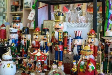 Nutcrackers on display  in retail store