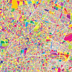 Mexico City, Mexico, colorful vector map