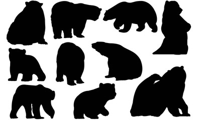 Polar bear Silhouette Vector Graphics