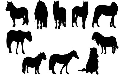 Pony Silhouette Vector Graphics