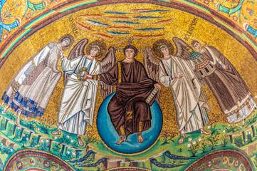 The Apse mosaic at San Vitale, Ravenna. 6th century