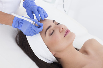 Skin care. Beauty treatment. Microdermabrasion.
