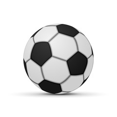 Realistic Soccer ball isolated
