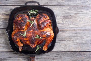 Grilled chicken background