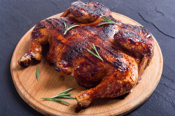 Grilled chicken background