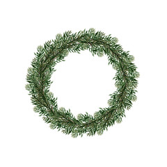 Watercolor Christmas wreaths.