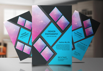 Photography Flyer with Diagonal Layout