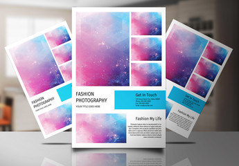 Photography Flyer with Blue Accents