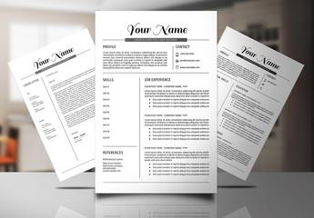 Resume Set with Script Header