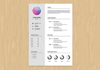 Resume Set with a Light Gray Sidebar