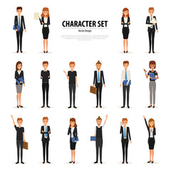 Set of Business People Character in office style. Business job function. Illustration vector of avatar people design.