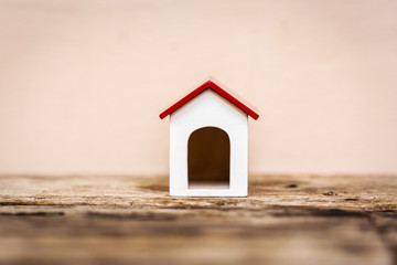 Small house on wooden
