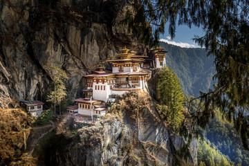 Famous Tiger's Nest monastery near Paro, Bhutan