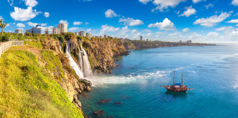 Photo sur Toile Turquie Duden waterfall in Antalya, Turkey