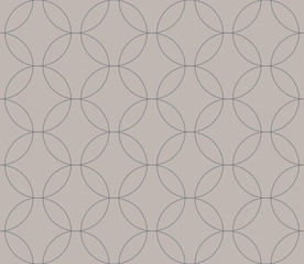 Abstract geometric pattern by the points, circles. Gray and white texture.