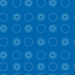 Geometric seamless pattern. Structure of colored circles and stars.