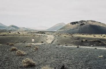 Man On A Volcanic Landscape