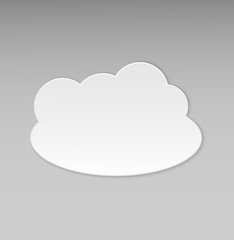 Cloud Icon With Grey Background. Vector illustration.