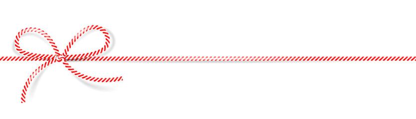 Weihnachten Kordel Schleife rot weiß isoliert