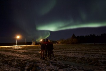 Northern Lights in Northern Sweden at New Year