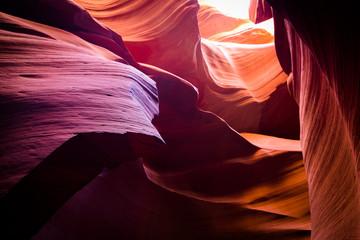 Photo sur Aluminium Antilope amazing shapes at antelope canyon, arizona