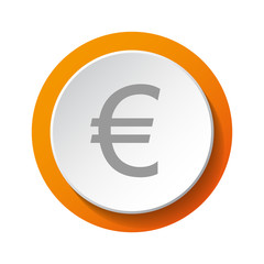 Symbol of European Union currency (euro) - 3d icon. Vector.