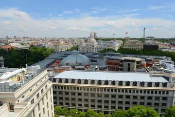Palace of Communication (Palacio de Comunicaciones) and Torrespana (Spain Tower), Madrid, Spain.