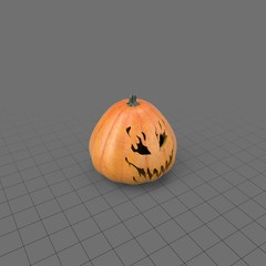 Halloween pumpkin with scary face 5