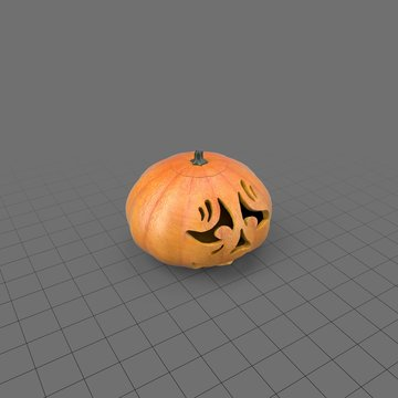 Halloween pumpkin with scary face 3