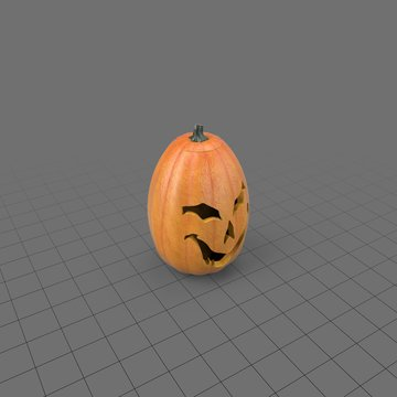 Halloween pumpkin with scary face 4