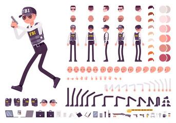 FBI agent character creation set