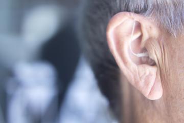 Hearing aid in ear