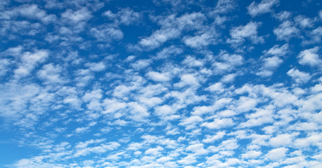 the empty sky full of clouds