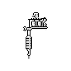 tattoo gun vector icon 8 bit style