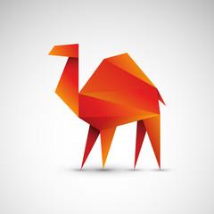 wielbłąd origami wektor