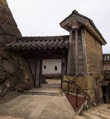 Gates of the Himeji castle complex, Himeji, Japan