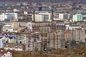 Stadtansicht von Ulan Bator, der Hauptstadt der Mongolei